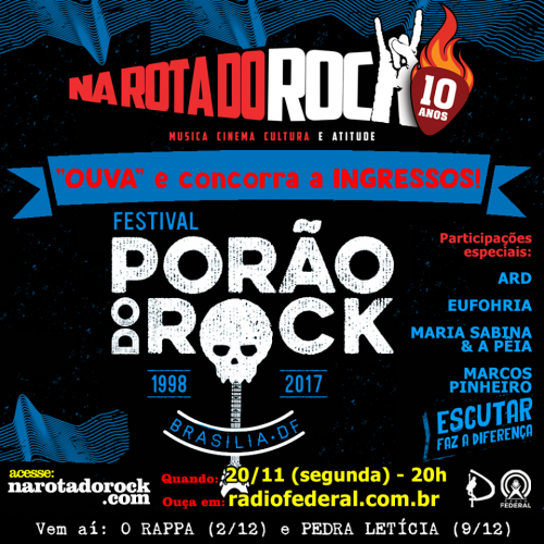 Programa Porao do Rock 2017