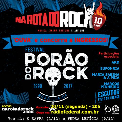 Programa Porao do Rock 2017